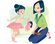 If Disney Princesses Were Moms : Mulan