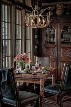 : )small Rustic Dining Space Rustic Dining Rooms, Kitchen Dining Rooms,  Rustic