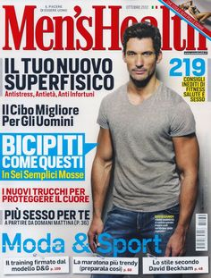 A Casual David Gandy Covers Octobers Issue from Italian Mens Health