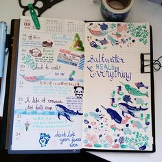 #prettyplannermay day 25: last week.  Week 21 in the #midoritravelersnotebook. Color theme is , mainly used the sea creatures #washitape from @aimez_le_style. 好難過的一週。幸好還能在剪紙膠帶的時候,找到寧靜慢慢沉思接下來的路該怎麼走