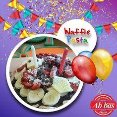 utlu, waffle dolu yıllar! Siz de doğum gününüzü Abbas Waffle'da, Waffle Pasta ile kutlayabilirsiniz.  #AbbasWaffleAnkara #WafflePasta