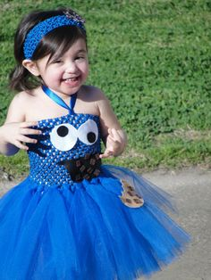 Tutu Dress - Cookie Monster- how cute is this! Can boys wear tutus? Dress Up Costumes, Baby Costumes, Halloween Costumes, Little Girl Dresses, Little Girls, Flower Girl Dresses, Tutu Dresses, Couture, For Elise