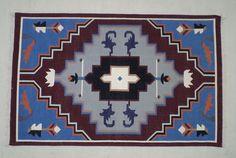 Bohemian Cotton Dhurrie Rug- 3x5, Tribal Rug, Scandinavian Rug, Yoga Rug, Navajo Rug, Southwestern Rug by DhurrieWorld on Etsy