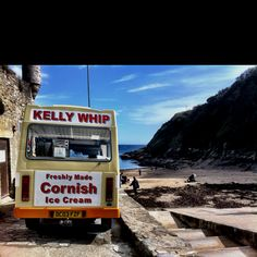 Ice cream at Readymoney Beach, Fowey Fowey Cornwall, Cornwall England, Seaside Village, My Heritage, Atlantic Ocean, Surfing, Ice Cream, Spaces, Inspired