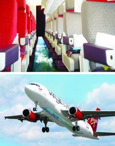 Virgin Airlines Launches the First Glass-Bottomed Plane...this would freak me out...I wouldn't go to the bathroom no matter how bad I had to go! But it would still be awesome haha