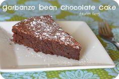 Garbanzo Bean Chocolate Cake (replace the sugar)
