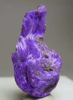Sugilite, furry crystalization. So cool!