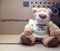 A personalised big nose Frappuccino a great wedding gift from Say it with Bears Personalised Teddy Bears, Big Noses, Great Wedding Gifts, Page Boy, Frappuccino, Toys, Animals, Personalized Teddy Bears, Activity Toys
