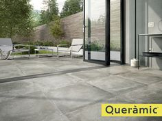 Quantum Group supply high quality porcelain, stone, ceramic and carpet tiles to retailers, group builders and projects by architects and interior designers. Exterior Gris, Modern Exterior, Concrete Pavers, Concrete Floors, Terrazzo, Ceramica Exterior, Terrace Floor, Background Tile, Garden Solutions