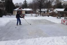10 Steps To Building A Backyard Ice Skating Rink On A Budget! #30secondmom