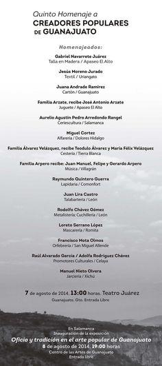Conoce a nuestros Creadores Populares en Guanajuato 2014