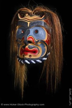 Bakwas Mask Original West Coast First Nations Art Northern Vancouver Island British Columbia Canada
