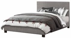 Amazon.com: Homelegance 1896KN-1EK* Fabric Upholstered Bed, Eastern King, Grey: Furniture & Decor 369
