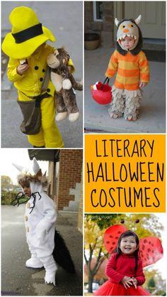 Literary (Book-Themed) Halloween Costumes Literary Costumes, Book Costumes, Book Character Costumes, Cute Costumes, Costume Ideas, Children Costumes, Holidays Halloween, Baby Halloween, Halloween Crafts