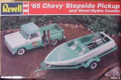 Revell 65 Chevy stepside pick up and boat kit box art