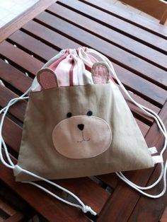 Super sewing for kids bags ideas Sewing Projects For Kids, Sewing For Kids, Baby Sewing, Fabric Purses, Sack Bag, Cotton Bag, Cotton Linen, Kids Bags, Baby Gifts
