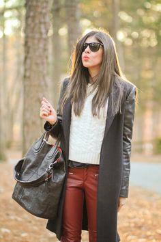 Zara Coat, Fringe and Leather Fashion, Outfit, Fall Fashion
