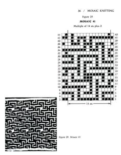 Mosaic Knitting Barbara G. Walker (Lenivii gakkard) Mosaic Knitting Barbara G. Walker (Lenivii gakkard) #41