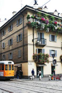 Piazza del Carmine in Brera, Milan, Italy