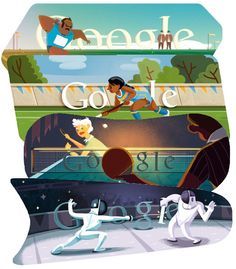 2012 London Olympic Google Doodle