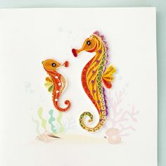 quilled seahorse - inspiration only - bjl