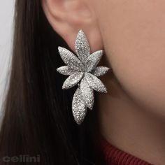 Cellini Jewelers NYC #PavePerfection #Diamonds #DiamondCluster #DiamondFlower #DiamondEarring