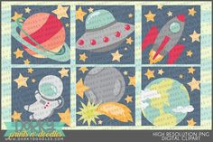 Clipart Design, Clipart Images, Space Images, Earth From Space, For Your Party, Embroidery Applique, Outer Space, Planner Stickers, Design Bundles