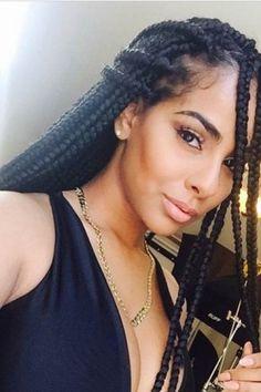 Best African Braids Styles For Black Women   Box braids hairstyles