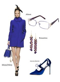 Extreme blue uncovers the secrets of being chicest in the chic list.#eyewear #eyeglasses #womensfashion