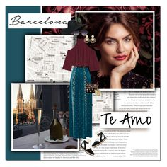 """""""barcelona"""" by lifestyle-ala-grace ❤ liked on Polyvore featuring Balenciaga, TEM, Reign On, Nine West, LUISA BECCARIA, W118 by Walter Baker, Alice + Olivia, Steve Madden, Kenneth Jay Lane and Aurélie Bidermann"""
