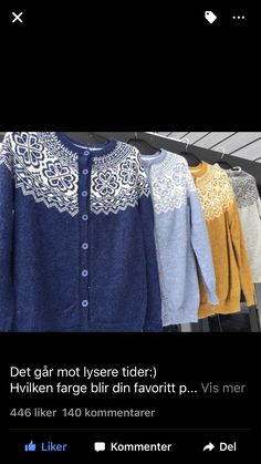 Aknitstory - festivalkofte Knitting, Sweaters, Diy, Fashion, Moda, Tricot, Bricolage, Fashion Styles, Breien