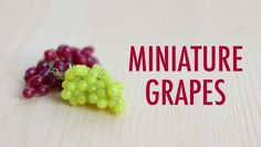 GRAPES: polymer clay tutorial