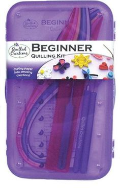 Quilled Creations Beginner Quilling Kit is the perfect way to get started in paper quilling.  It includes everything you need to learn paper quilling quickly.