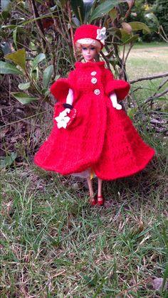 Barbie in red crochet