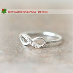 HOLIDAY SALE  Infinity Ring in silver van laonato op Etsy, $11.50