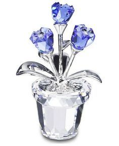 Swarovski Forget-Me-Not Flower Figurine Crystal Garden, Glass Figurines, Forget Me Not, Blue Roses, Swarovski Crystals, Glass Vase, Gems, Things To Sell, Jewelry