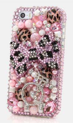 Pink Leopard Bow with Diamond Ring Design (style Bling Phone Cases, Ipod Cases, Diy Phone Case, Cute Phone Cases, Smartphone Covers, Cell Phone Covers, Samsung Vr, Samsung Galaxy, Pink Leopard