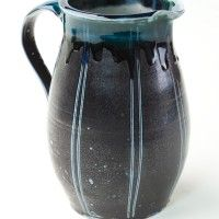 Blue Jug by Beidler Pottery