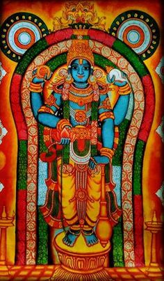 Guruvayurappan mural painting. Acrylic on Canvas 12x18 inches. watsapp on 09544177679