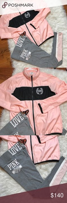 VS PINK anorak windbreaker XS/S Sold out everywhere and super rare!!!! Worn twice in EUC. No trades! PINK Victoria's Secret Jackets & Coats