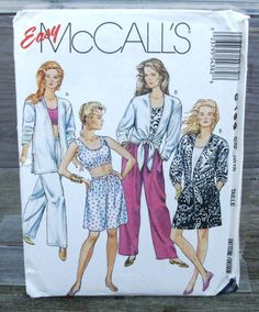 1991 Uncut  Easy  McCalls Pattern 5438 by lovelylovepatterns, $4.00
