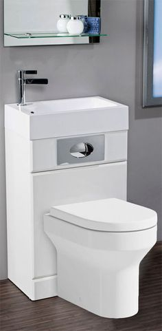 Fantastic Futura Space Saving WC Toilet and Basin Combined for sale Small Downstairs Toilet, Small Toilet Room, Small Bathroom Sinks, Small Sink, Tiny Bathrooms, Bathroom Design Small, Bathroom Layout, Bathroom Designs, Bathroom Ideas