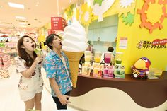 Come here you looking for delicious ice cream HAPiNAHA 1F Morinaga's Fun twisted soft served ice cream shop #okinawa #japan #japankuru #cooljapan #hapinaha #naha #travel #food #morinaga #icecream #softserve #instafood #instadaily #instafoodies #picoftheday #follow4follow