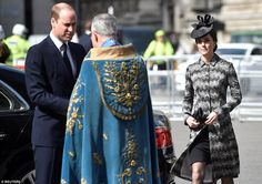 Prince William and Catherine, the Duchess of Cambridge, arrive at a Service of Hope at Wes...