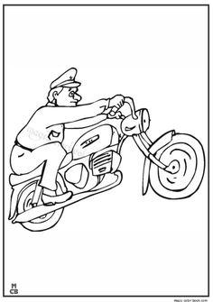 law enforcement coloring pages - photo#36