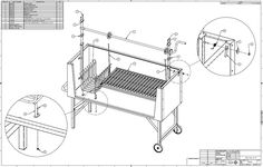 In we incorporated the firebox into our next revision but realized that heat level would be too high to include it under the crank shaft. Gaucho, Argentina Grill, Kitchen Trends 2018, Smoker Designs, Diy Outdoor Kitchen, Outdoor Kitchens, Outdoor Cooking, Outdoor Grill Area, Diy Grill
