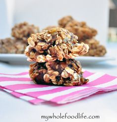 4 ingredient Almond Butter Cookies.  Delicious cookies that are healthy enough for breakfast.  You probably already have all the ingredients to make them too!  Vegan and gluten free.