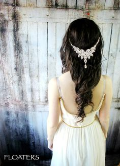 Bridal Headband Bridal Headpiece Bridal Hair by HairFloaters