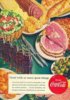 *Coca-cola ad - my sentitments exactly! Coca Cola Poster, Coca Cola Ad, World Of Coca Cola, Pepsi, Retro Advertising, Vintage Advertisements, Retro Ads, Vintage Ads, Vintage Food