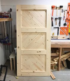 Another Custom #BarnDoor ready for stain. . . #kregjig #ryobination #barndoors #farmtables #tampa #stpetersburg #stpete #tampabay #southtampa #woodworling #farmhouse #rustic #buylocal #shoplocal #shopsmallbusiness #shopsmall #anawhie #shanty2chic #woodgrainguys